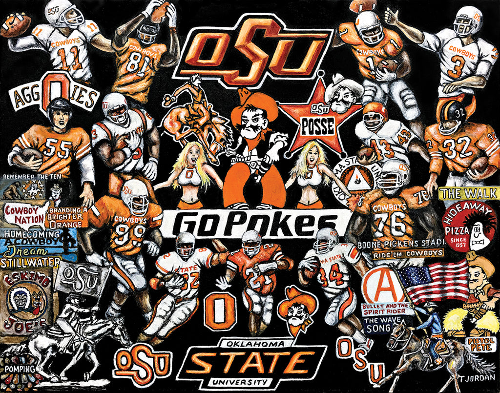 Oklahoma State Cowboys Tribute -- by Thomas Jordan Gallery
