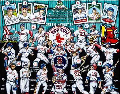 Boston Red Sox Tribute -- by Thomas Jordan Gallery