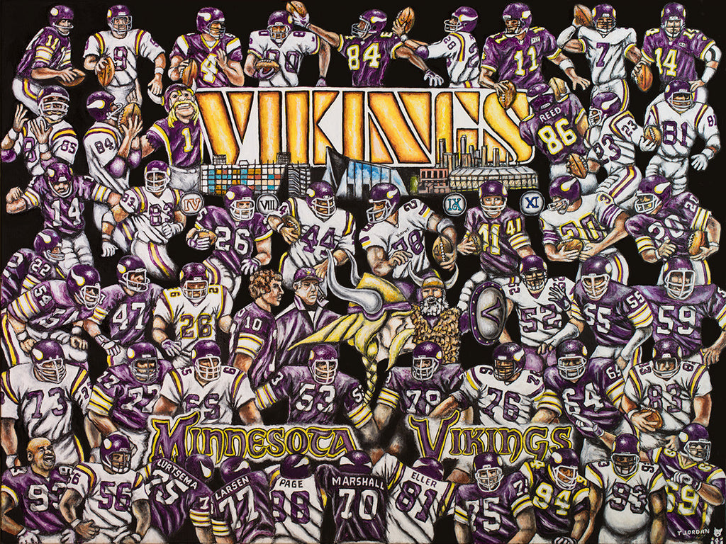 Vikings Tribute -- by Thomas Jordan Gallery