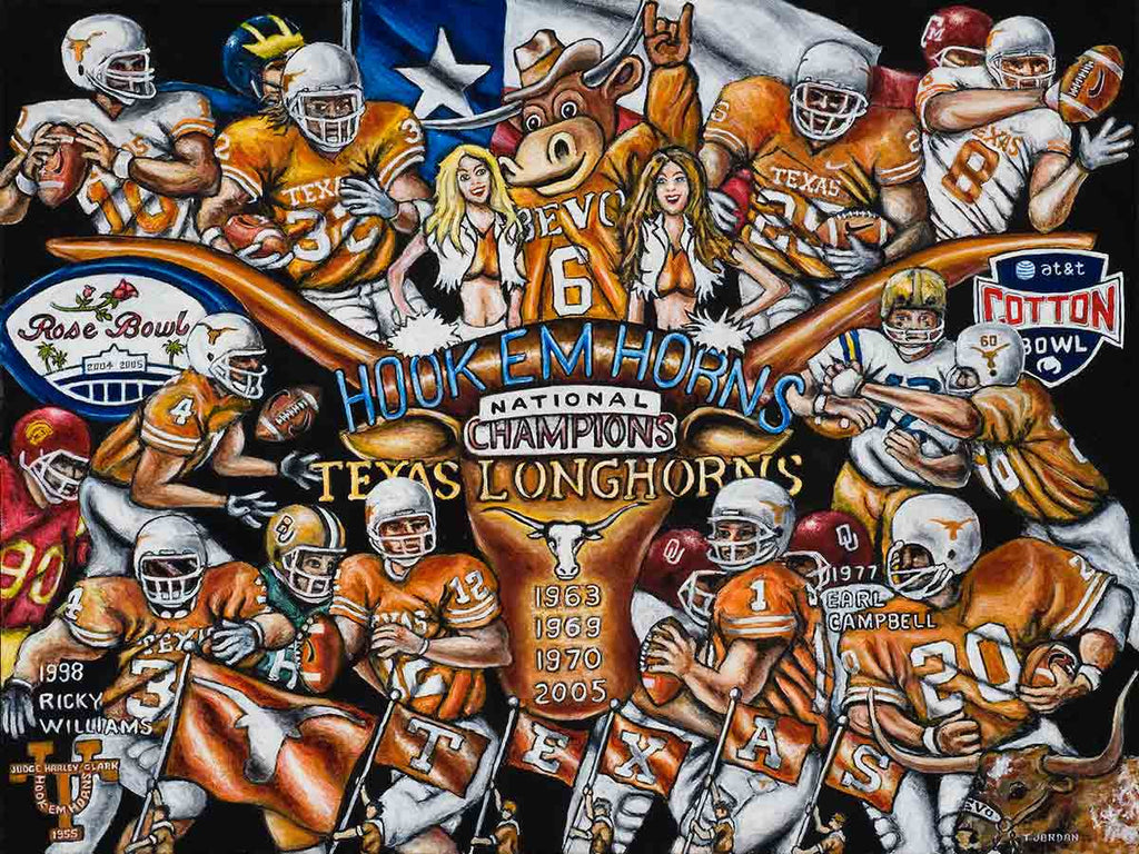 Hook Em Horns -- by Thomas Jordan Gallery