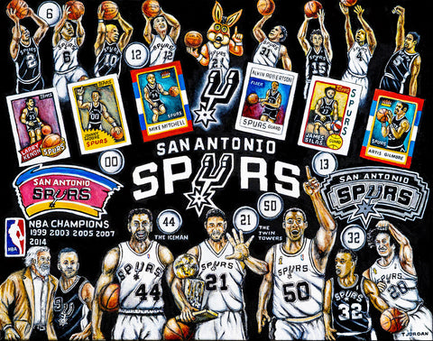 San Antonio Spurs Tribute -- by Thomas Jordan Gallery