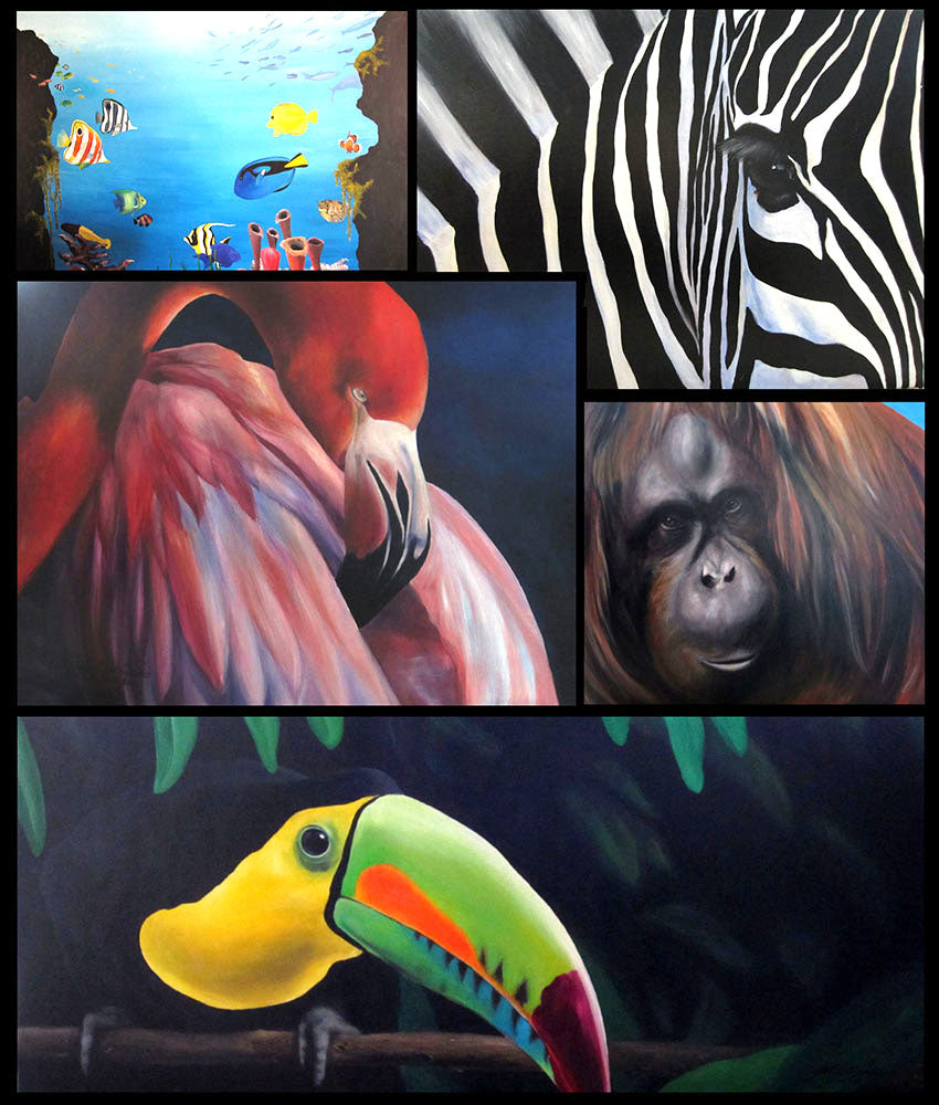 acrylic paintings of animals