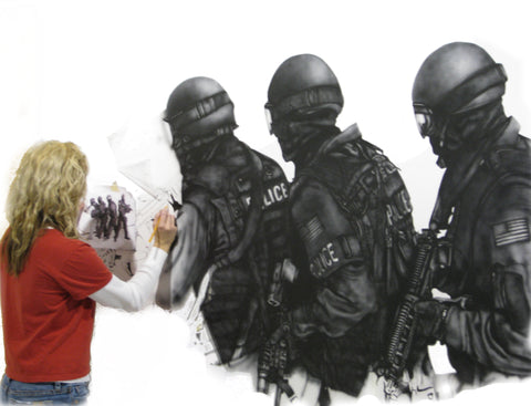 tactical airbrush mural