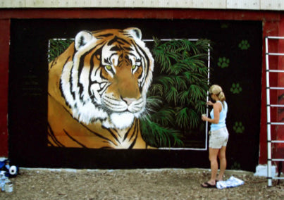 mural painting of a tiger