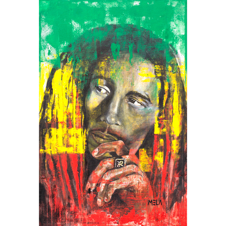 Bob Marley Original Acrylic Painting - AVAILABLE