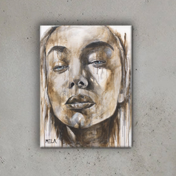Girl Face Canvas