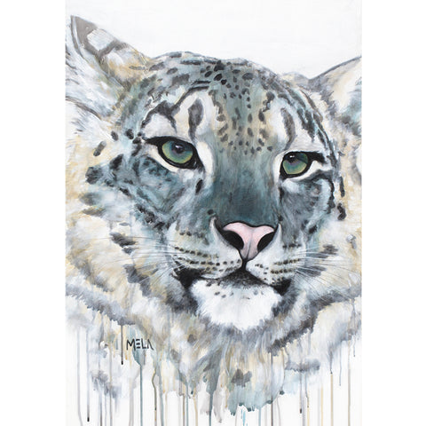 Snow Leopard Original Acrylic Painting - SOLD