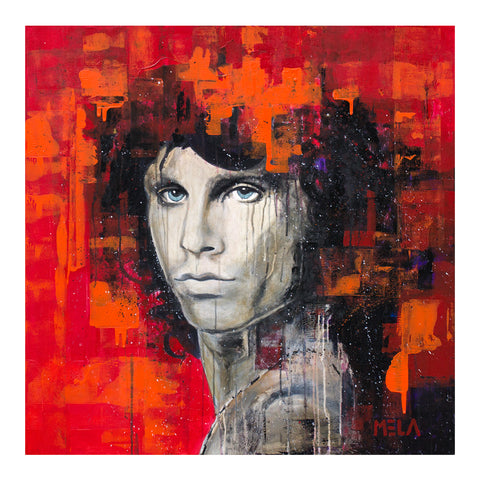 Jim Morrison Original Acrylic Painting - SOLD