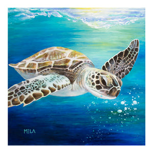 Sea Turtle Original Oil Painting - AVAILABLE
