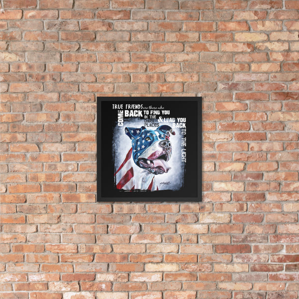 'Guardian Angel' Marine Remembered Framed Poster