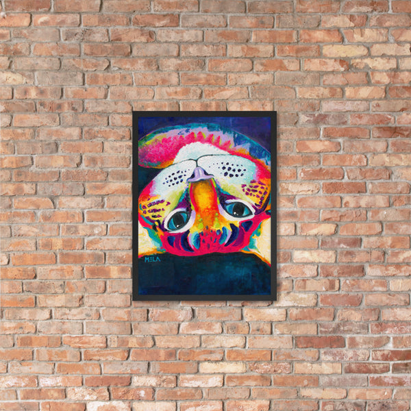 Colorful Cat Framed Poster