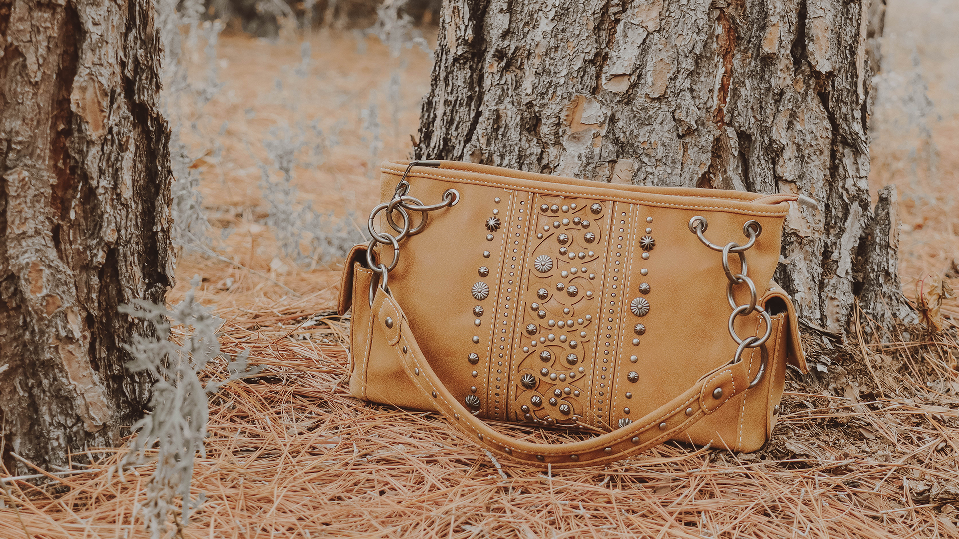 Details about  /Concealed Carry CCW Gun Montana West USA American Bling Dual Sided Brown Purse