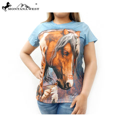 ST-621 Horse Art-Laurie Prindle Collection Ladies T Shirt Prepack (6PCS)