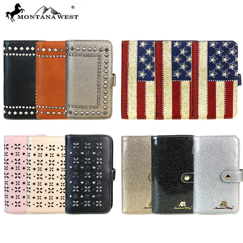 ABPW-05 American Bling Phone Charging Wallet Pre-pack (12pcs)