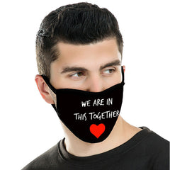 "FCM-029A  American Bling ""We Are In This Together"" Fabric Face Mask Double Layer Set of 2"