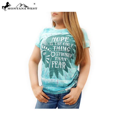 ST-618 Montana West Western Wear Ladies T Shirt Prepack (6PCS)