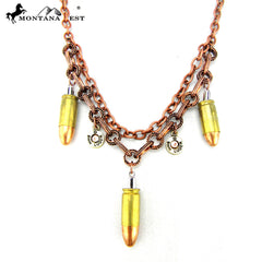 N48252 SHORT COOPER CHAIN W/BULLET CHARMS