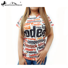 ST-614 Montana West Western Wear Ladies T Shirt Prepack (6PCS)