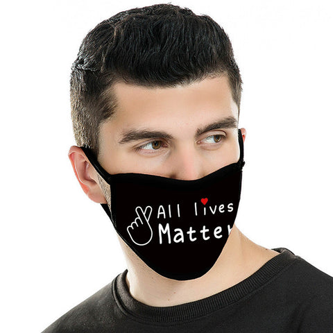 "FCM-027A American Bling ""All lives Matter"" Fabric Face Mask Double Layer Set of 2"