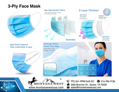 ABFM-American Bling 50Pcs Disposable Face Masks 3 Layers  Protective Cover Masks (Non-Medical)