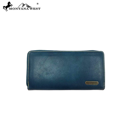 MW812-W010 Montana West Aztec Collection Secretary Style Wallet