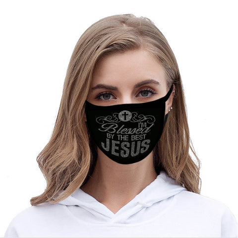 FCM-019 American Bling Spiritual Fabric Face Mask Double Layer 2PCS