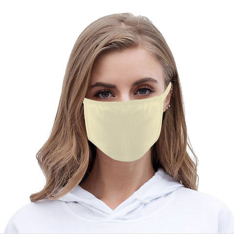FCM-001 Solid Color Fabric Face Mask Double Layer Set of 2