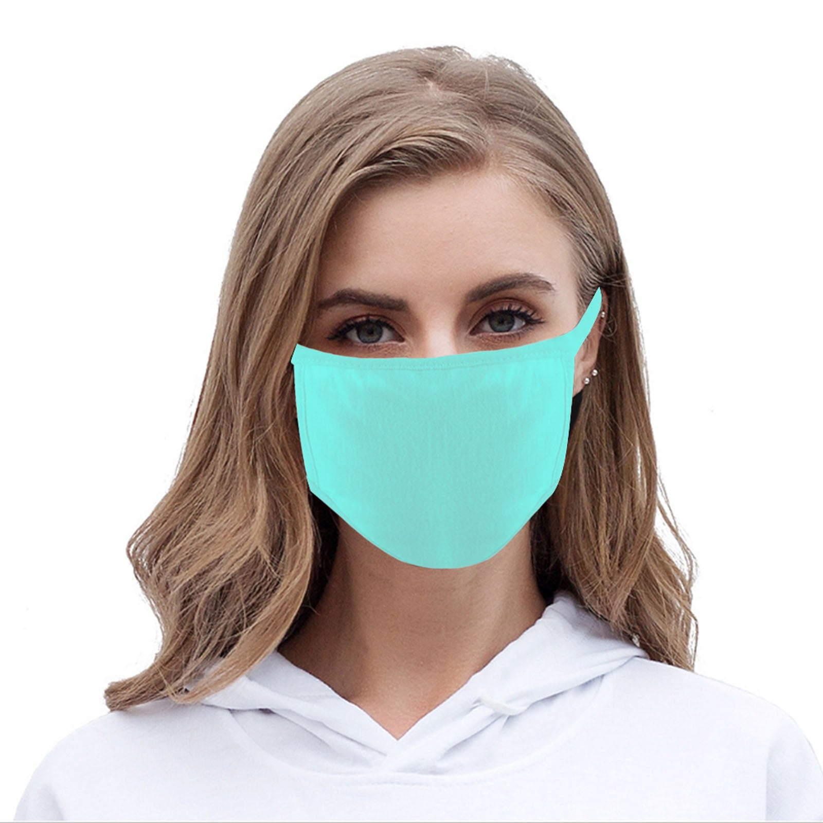 FCM-001 American Bling Solid Color Fabric Face Mask Double Layer Set of 2