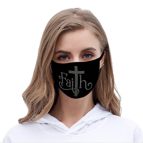 FCM-018 Spiritual Fabric Face Mask Double Layer Set of 2