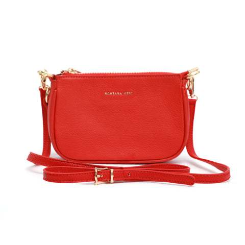 MWL-026 Montana West 100% Genuine Leather Clutch/Crossbody