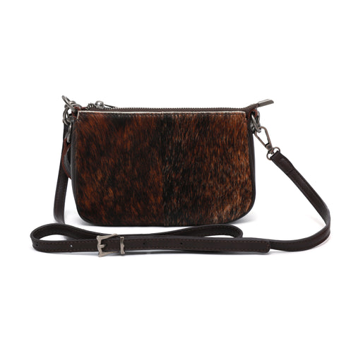 MWL-025 Montana West 100% Genuine Leather Calf Hair Clutch/Crossbody