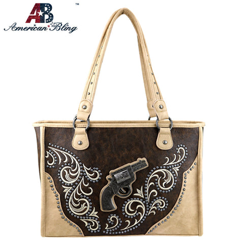 ABD-1005  American Bling Dual Sided Concealed Carry Tote Bag