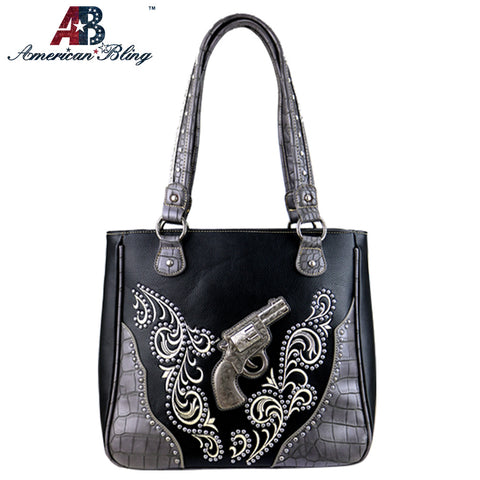 ABD-1006  American Bling Dual Sided Concealed Carry Tote Bag