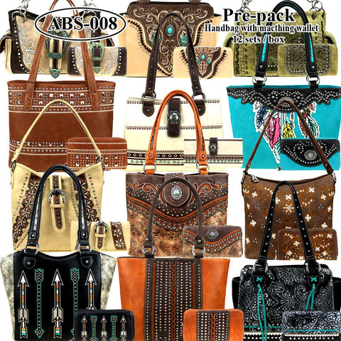 ABS-008W  American Bling Pre-pack (12 Set)