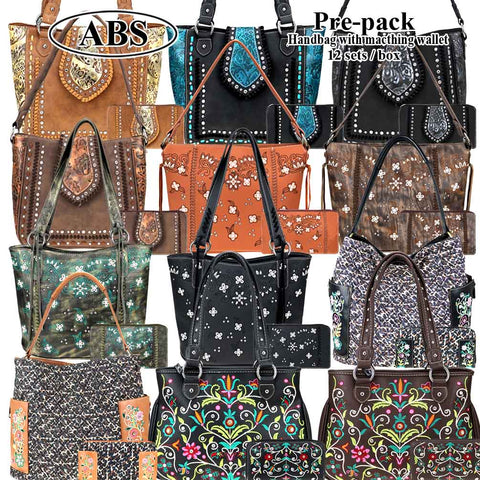 ABS-052W  American Bling Pre-pack (12 Set)