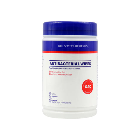 WP70  Antibacterial Wipes Canister 70 Count 75% Alcohol