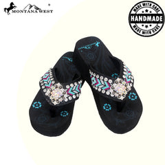 BD16-S002 Aztec Hand Beaded Collection Flip Flops BY CASE