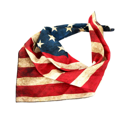 BDN-US01  Montana West US Flag Design Print Bandana - Assorted Colors (12 PCS)