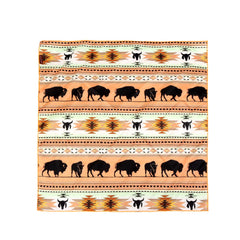 BDN01  Montana West Native Pattern Buffalo Print Bandana - Assorted Colors (12 PCS)