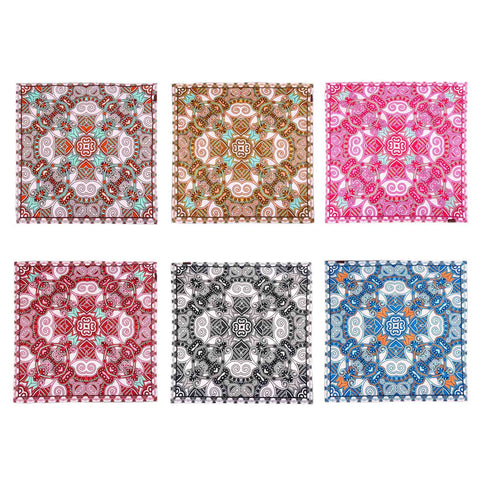 BDN07  Montana West Mandala Print Bandana- Assorted Colors (12 PCS)