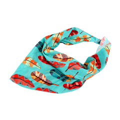 BDN04  Montana West Feather Pattern Print Bandana- Assorted Colors (12 PCS)