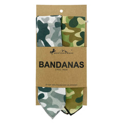 BDN12  Montana West Camo Print Bandana - Assorted Colors (12 PCS)