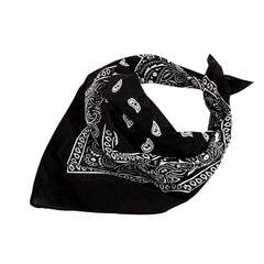 BDN14-02  Montana West  Bandana Paisley Print - Black & Red (12 PCS)