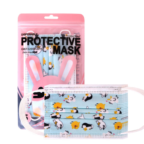 KD-FMBL1110 American Bling Kids 3 Ply Disposable Blue Baby Chicks Face Mask Non-Medical (5pcs/Pack)