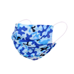 FX-FMBL1213 American Bling 10Pcs/Pack Blue Camo Print 3Ply Disposable Face Masks (Non-Medical)