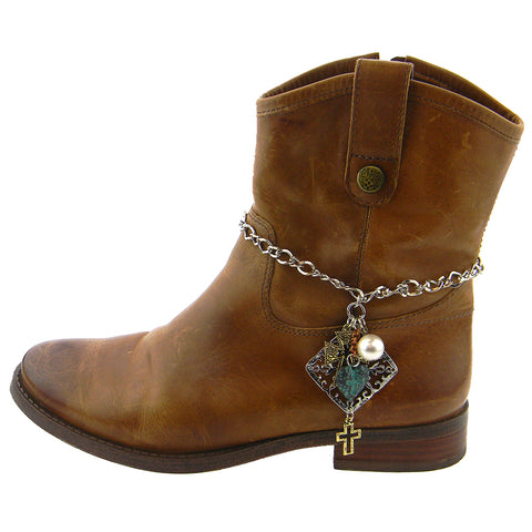 BOT180315-09  WESTERN CHARMS BOOT CHAIN