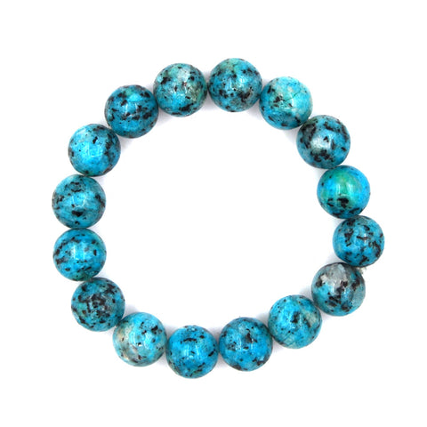 BR181229-01 AFN-TURQ  African turquoise bead bracelet