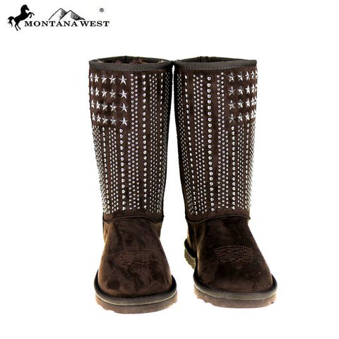 BST-037 Montana West Studs Collection Boots By Case