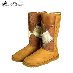 BST-102 Montana West Cowhide Collection Boots