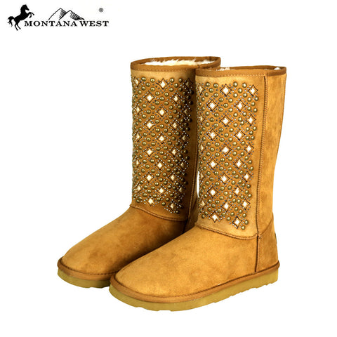 BST-104 Montana West Boots Tribal Embroidered Collection- Brown By Size
